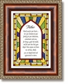 Father Scripture Verse Framed Christian Wall Decor