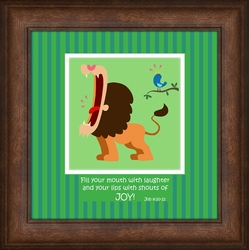 """Fill Your Mouth"" Framed Art For Children"" - 7 Frames Available"