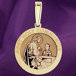 First Holy Communion Medal (for a Boy) - 9 Options Available