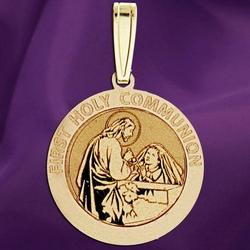 First Holy Communion Medal (for a Girl) - 9 Options Available