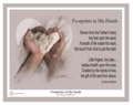 Footprints In His Hands by Danny Hahlbohm - Unframed Christian Art