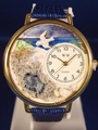 Footprints Religious Gold Watch