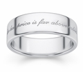 For Her Price If Far Above Rubies Bible Verse Wedding Band - White Gold