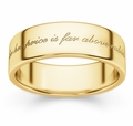 For Her Price Is Far Above Rubies Bible Verse Wedding Band - Yellow Gold