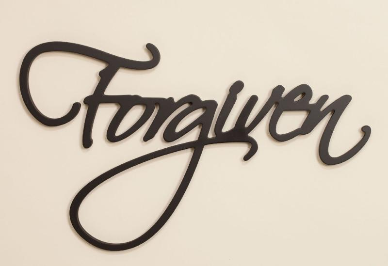 Forgiven Carved Script Word Home Decor