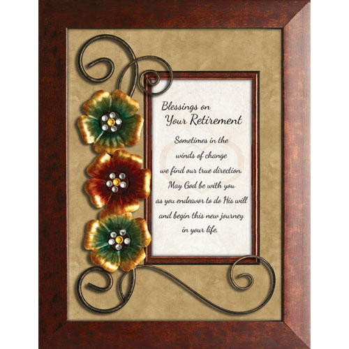 Framed Christian Tabletop Home Decor Blessings On Your Retirement Lordsart
