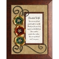 Devoted Wife - Framed Christian Tabletop Home Decor