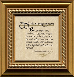 Framed Ministry Appreciation Gift