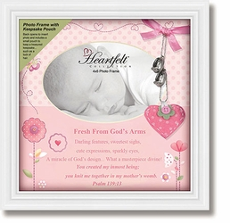 Framed Tabletop Christian Verse Photo Frame - Baby Girl