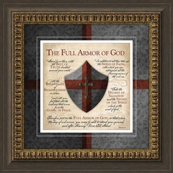 Full Armor Of God Framed Home Decor
