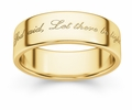 Let There Be Light Genesis 1:3 Bible Verse Wedding Band Ring