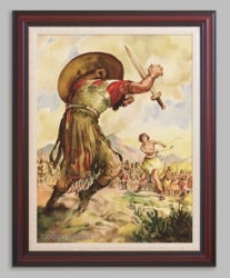 Giant Goliath Topples to the Ground - 6 Framed & Unframed Options