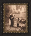 Gift of the Shepherd by Josef Scheurenberg - 3 Ornate Dark Framed Options