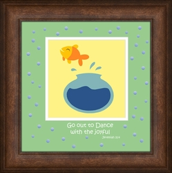 """Go Out To Dance"" Framed Art for Children - 7 Frame Choices"