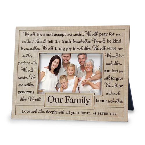 God Bless Our Family Photo Frame | LordsArt.com