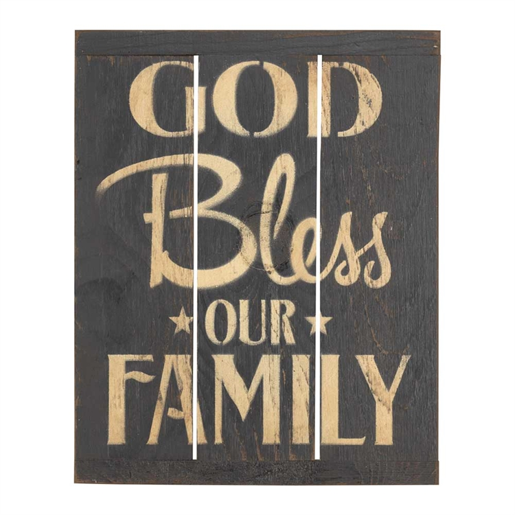God Bless Our Family Rustic Reminders Wall Plaque - Christian Home ...