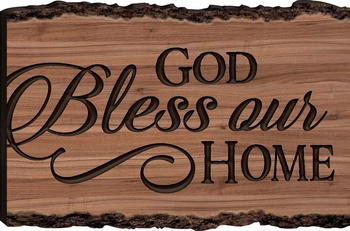 God Bless Our Home Barky Sign