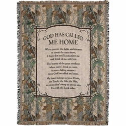 God Has Called Me Home Tapestry Throw