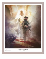 God Has My Back - Male Soldier by Danny Hahlbohm - Christian Art