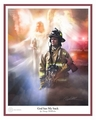 God Has My Back - Fireman by Danny Hahlbohm - Unframed Christian Art