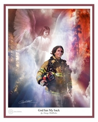 God Has My Back - Firewoman by Danny Hahlbohm - Christian Art