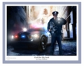 God Has My Back - Policeman 2 by Danny Hahlbom - Christian Art