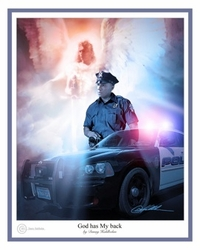 God Has My Back - Policeman by Danny Hahlbohm