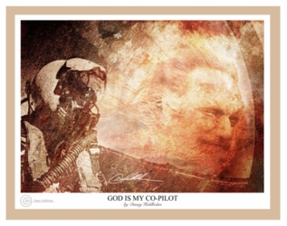 God Is My Copilot by Danny Hahlbohm - Unframed Christian Art