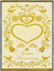 Golden Anniversary Tapestry Throw
