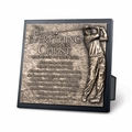 Golfer Sculpture Plaque - Christian Home Decor