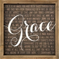 Grace Framed Art - Christian Home & Wall Decor