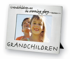 Grandchildren Pewter Polished Picture Frame