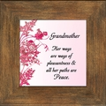 Grandmother Framed Appreciation Gift - 4 Frames Available