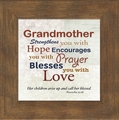 Grandmother Framed Christian Appreciation Gift - 4 Frames Available