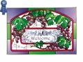 Grapevine Welcome, Plum and Green Border Stained Glass Art