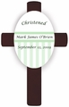 Green Children's Baptism/Christening Cross