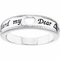 Guard My Heart Sterling Silver Ring