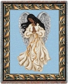 Guardian Angel Mahagony Tapestry Throw