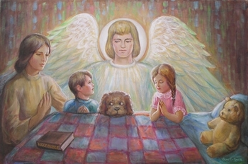Guardian Angel Number 2 by Venetia & Daphine - 2 Unframed Options