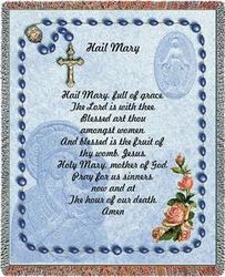 Hail Mary Tapestry Throw