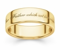 Hallowed Be Thy Name Bible Verse Wedding Ring - Yellow Gold