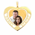 Heart withTwo Names 14K Photo Jewelry Gift