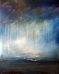 Heaven's Rain Christian Modern Art by Anna Sophia