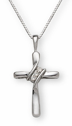 His Banner Over Me Was Love Diamond Cross Pendant