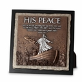 His Peace Small Stone Sculpture Plaque