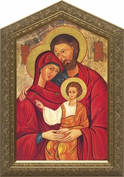 Holy Family Icon (Peaked Frame) - 3 Framed Options