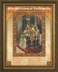Holy Sacrament of Confirmation Framed Catholic Wall Decor