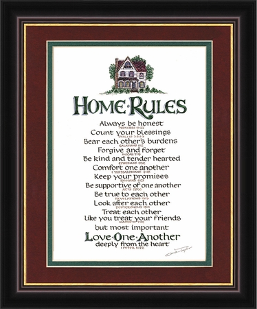 Home Rules Christian Wall Decor    Part 92