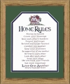 Home Rules Family Scripture Gift