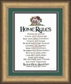 Home Rules Gold Frame Christian Wall Decor
